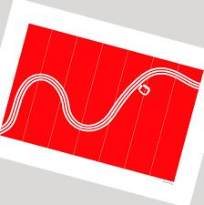 three stripe trent u0027 minimalist nottingham forest print by ground