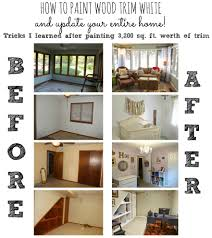 How To Update Your House by How To Paint Wooden Trim White
