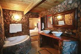 Stone Is A Popular Material For Bathroom Design Home Decorating - Stone bathroom design