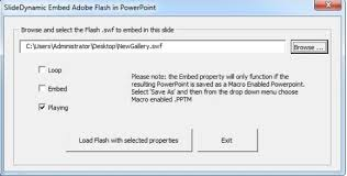 how to add swf files in powerpoint to create flash presentations