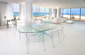 Clear Dining Room Table Lucite Chair Technique Other Metro Contemporary Dining Room
