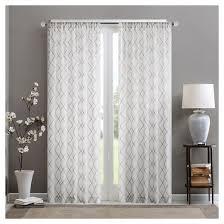 Shimmer Sheer Curtains Clarissa Diamond Sheer Curtain Panel Target