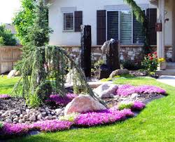 Front House Landscaping by Small Front Yard Landscaping Ideas Wooden Chair Landscape Design
