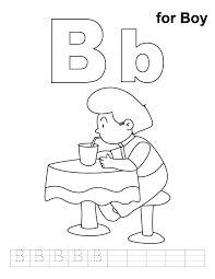 boy coloring handwriting practice download free