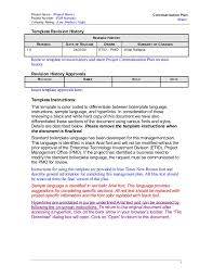 caltrans communication plan template