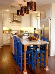 blue bar stools kitchen furniture pictures of kitchen chairs and stools seating option ideas hgtv