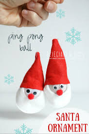 santa ornament craft for kids christmas tree ornaments
