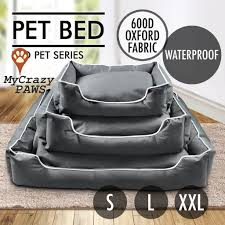 pet beds my crazy paws online pet store pet bed dog or cat bed waterproof cushion soft mat warm winter size s l