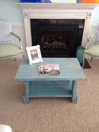 turquoise distressed coffee table for sale 150 our work that