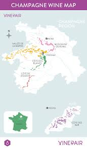 Wine Map Of France by The Definitive Guide To Champagne Map Vinepair