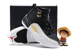 kid jordans air 12 wings white black gold shoes for kids