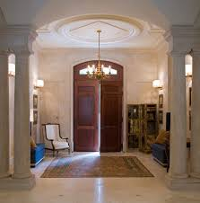 sized foyer ideas entry traditional with columns ambient bathroom