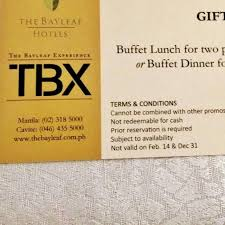 the bayleaf hotel manila cavite gift certificate tickets vouchers