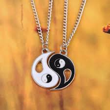 best necklace stores images Yin and yang chain pendant necklace for best friends and jpg