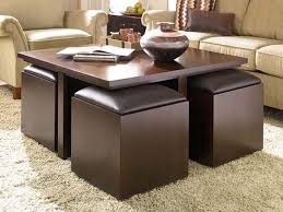 Coffee Table With Ottoman Seating The Most Coffee Table With Ottomans Underneath Design In Seating