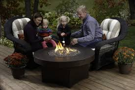 Propane Fire Pit Glass Patio Ideas Round Propane Fire Pits Table With Little Glass Beads