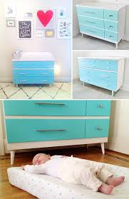 Vintage Baby Changing Table Using A Vintage Dresser As A Changing Table