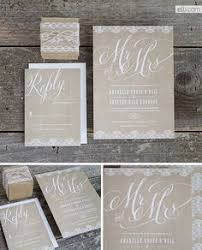 Burlap And Lace Wedding Invitations Very Simple And Sweet I Like The Brown Paper I Wouldn U0027t Want