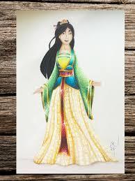 draw mulan disney princess speed drawing jak