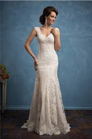 sheath wedding dresses sheath v neck cap sleeve chagne satin lace wedding dress