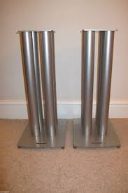 soundstyle bookshelf speaker stands pair silver metal
