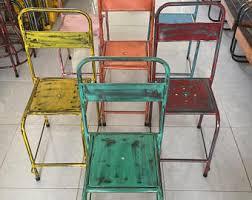 metal chair etsy