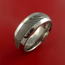 surgical steel band surgical steel stainless and damascus steel band custom made ring