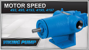 viking pump motor speed series 493 495 4193 4195 4197 pump