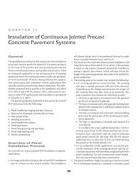 chapter 11 installation of continuous jointed precast concrete
