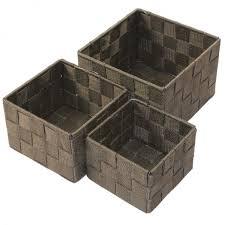 aufbewahrungsbox badezimmer aufbewahrungsbox 3er set quadratisch geflochten korb box