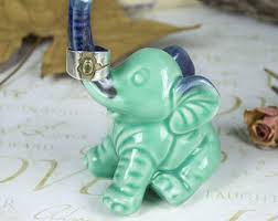 porcelain elephant ring holder images Jewelry ring holder etsy jpg