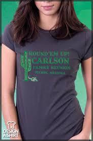 em up western themed family reunion t shirt template