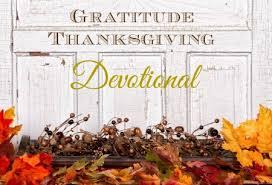 month of gratitude thanksgiving devotional