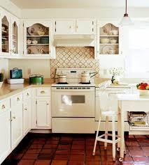 Neutral Kitchen Colour Schemes - nice red vigan tiles and backsplash inspirational kitchens