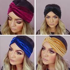 velvet headband women multicolor crossed velvet turban twist headband headwear