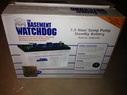 Basement Pump Up System by Basement Watchdog Is A 7 5 Hour System