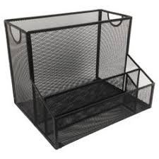 Mesh Desk Organizer Safco Mesh Desk Organizer With 1 Vertical And 3 Horizontal