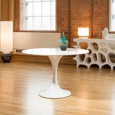 kitchen comfortable oval white saarinean tulip table design