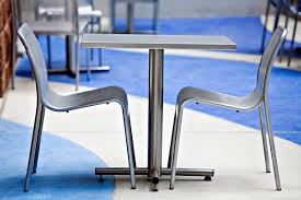 Steel Bistro Chairs Cross Table Outdoor Forms Surfaces
