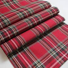 free shipping promotion 100 polyester plaid scottish theme table