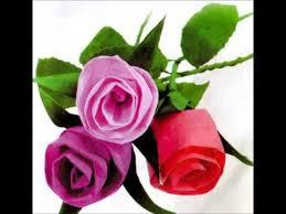 cara membuat bunga dengan kertas hias video cara membuat bunga mawar dari kertas krep youtube