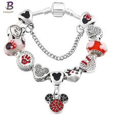 child charm bracelet images Baopon a variety of design charm bracelet with mickey enamel beads jpg