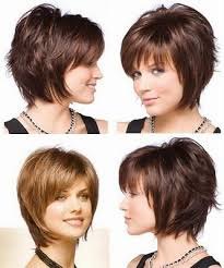 front and back views of chopped hair graduated bob hairstyles with fringe front and back view google