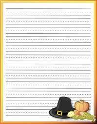 printable thanksgiving stationery primary lines by brenda barron