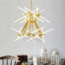led coffee painting twig chandeliers for dinning room