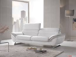 Contemporary White Leather Sofas Contemporary White Leather Sofa With Steel