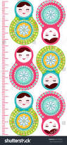 russian dolls matryoshka on white background stock vector