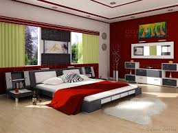 red bedroom basic decor