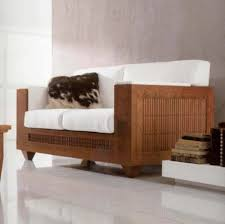 Wooden Sofa Designs Contemporary Sofa Wooden 2 Seater White A1234 2 Annibale