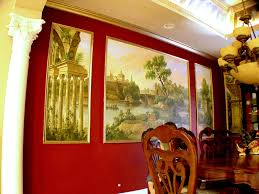 residential mural french landscape 1 dining room murals